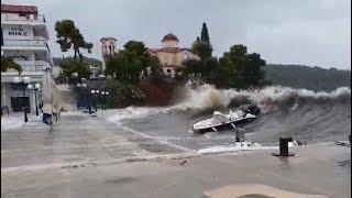 Severe Medicane in Peloponnese, Greece - September 29, 2018