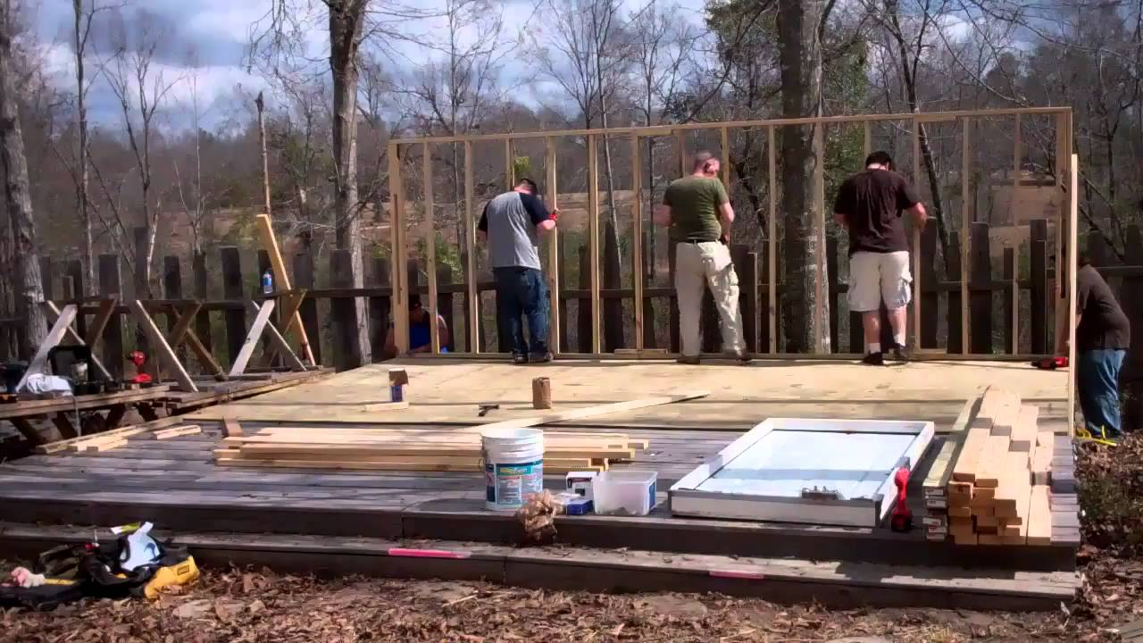 Building a small vacation house in 2 days RIGHT part  YouTube