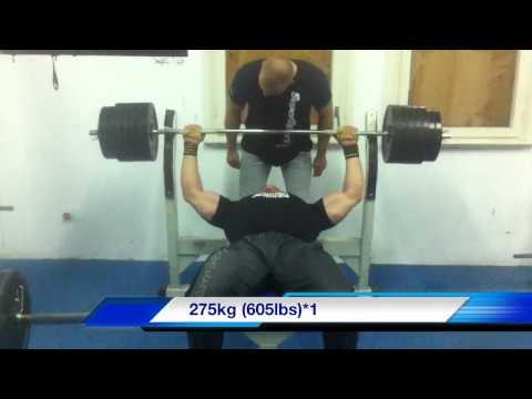 26.9.2011. Jadran 275kg bench press