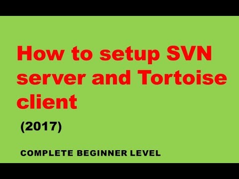 How to setup SVN server and Tortoise SVN