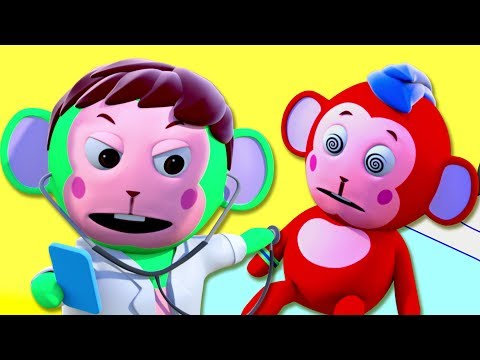 Five Little Monkeys Jumping On The Bed  3D Nursery Rhymes  All Babies Channel