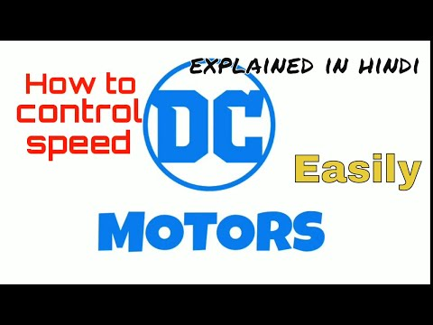 Starting and speed control of a dc motor (in hindi)