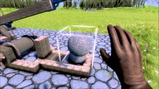 Medieval Engineers Triple Rope Torsion Spring Catapult