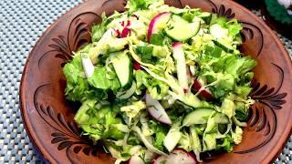 Салат на Каждый День Салат Витаминный Салат из Овощей Легкий Овощной Салат