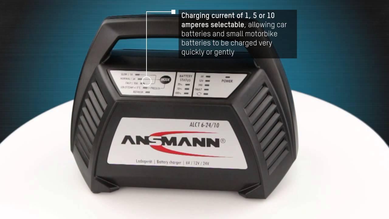 Ansmann Lead Acid Battery Charger Alct 6 24 10 For 6v 12v 24v Re 12 V Sla Cutoff Circuit Required Batteries