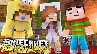 BABY DUCK IS JEALOUS ABOUT BABY ELLIES NEW CRUSH! Minecraft Little Kelly (Custom Roleplay)