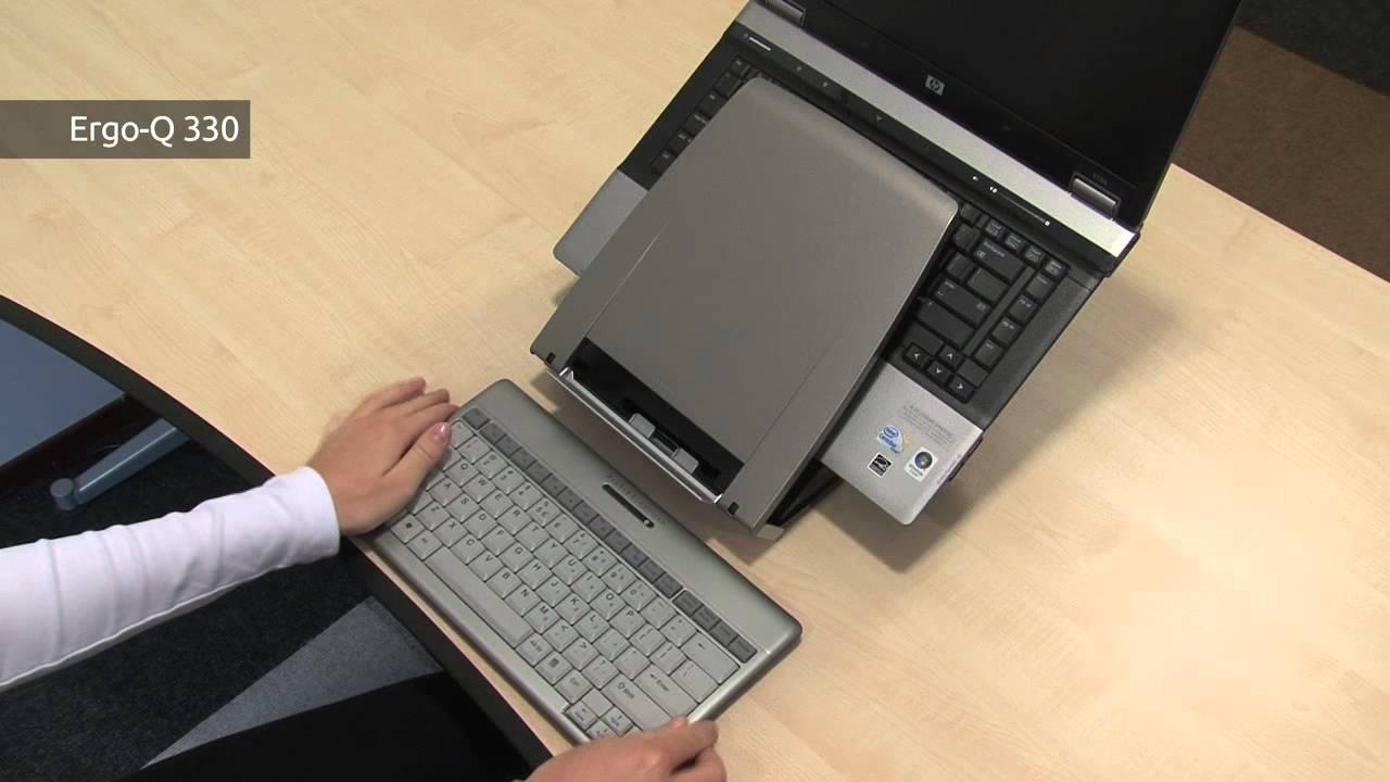 4d3f65a0e7f BakkerElkhuizen Mobile Notebook Stand Ergo-Q 330 - YouTube