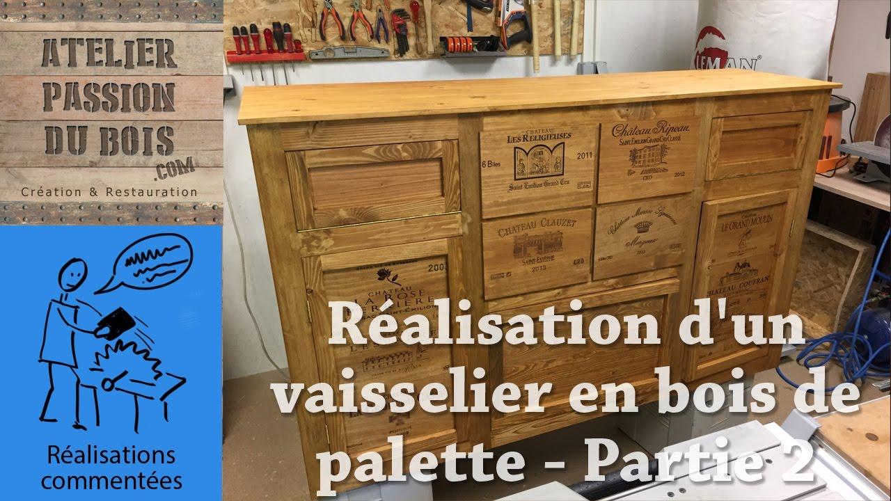 r alisation d 39 un vaisselier en bois de palette les parements tiroirs et portes partie 2. Black Bedroom Furniture Sets. Home Design Ideas