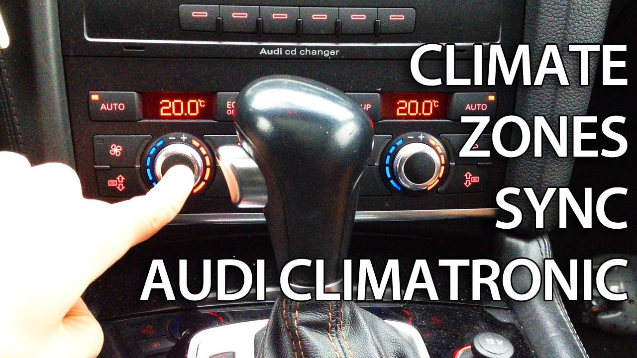 Audi A3 2008 >> How to activate climate zone sync in Audi Climatronic (A4 A5 A6 A7 A8 Q5 Q7) - YouTube