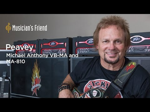 Michael Anthony Discusses his Peavey VB-MA Bass Amp and MA-810 Cabinet
