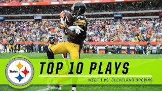 Steelers Top 10 Plays from Week 1 vs. Browns
