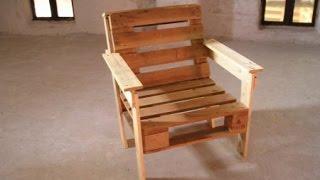 Кресло из поддонов - Мастер класс по изготовлению. Кресло своими руками.