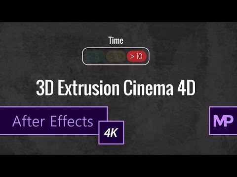 3D Extrusion w/Cinema 4D Renderer | After Effects Tutorial (4K)