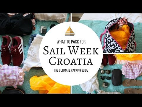 ULTIMATE PACKING GUIDE: what to pack for Sail Week Croatia?