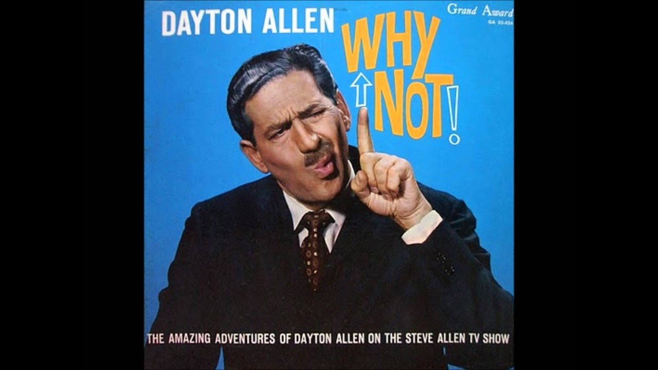 'Why Not!'  Rare 1960 comedy LP -  Dayton Allen
