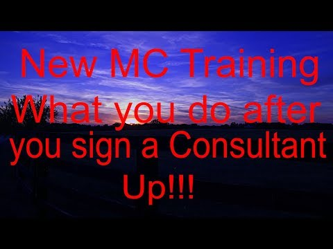 New MC Training!!! What you do after you sign a New Consultant up!!! S1: E9