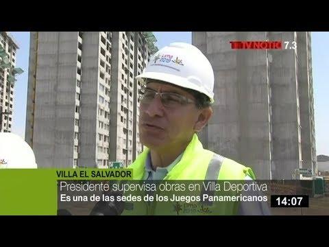 Presidente Vizcarra supervisa avance de obras en villa de atletas de Juegos Panamericanos
