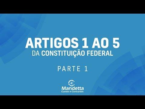 AULA ARTIGOS 1º AO 5º CF - PARTE 01