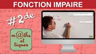 Etudier la parité d'une fonction (2) - Seconde