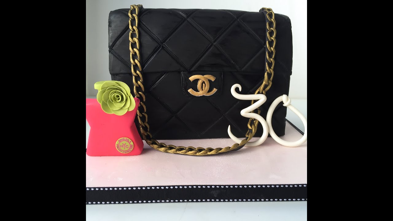 How To Make A Chanel Bag Cake