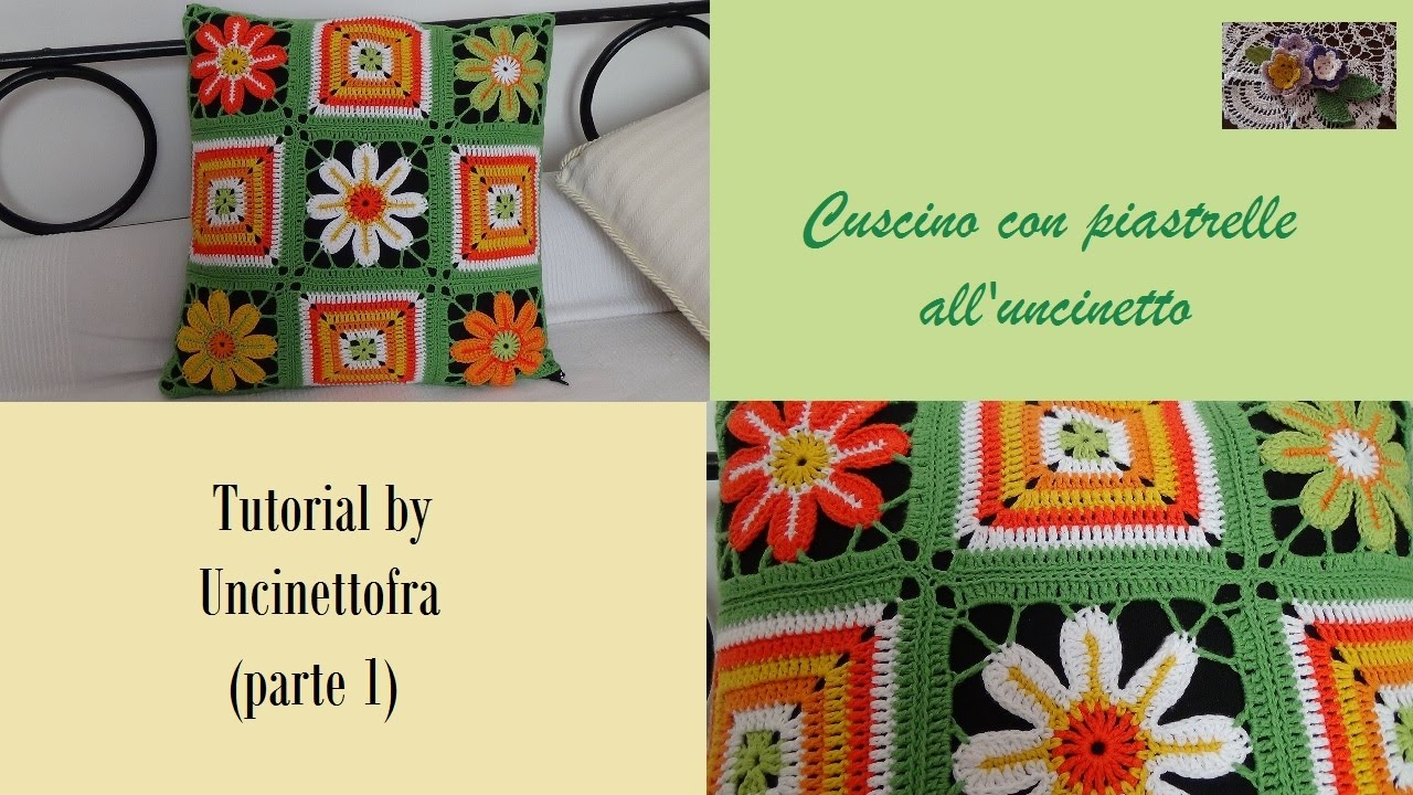 Cuscino Con Piastrelle Alluncinetto Tutorial Parte 1 Youtube