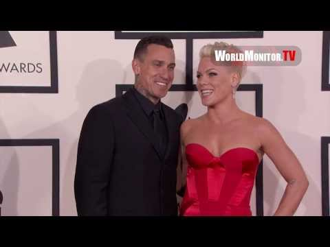 PINK, Carey Hart, Ed Sheeran 56th Annual GRAMMY Awards Redcarpet Arrivals