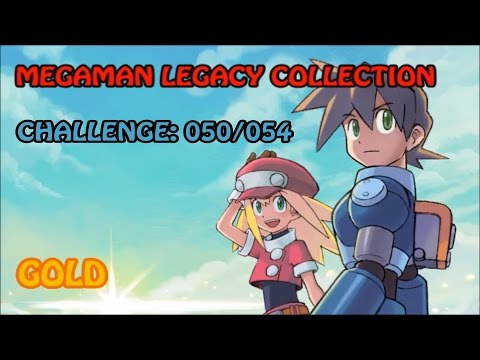 Megaman Legacy Collection - Challenge MM4 ROBOT RUSH (NO ITEMS) - Gold  