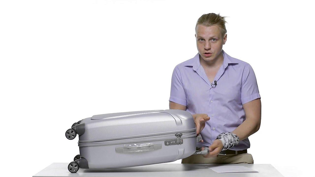 Средний противоударный чемодан 54 л CAT Turbo черный 83088;01 .