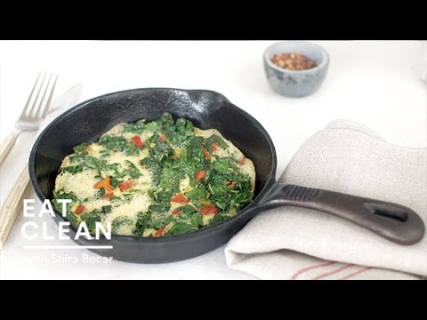 Roasted Red Pepper and Kale Frittata - Eat Clean with Shira Bocar ...