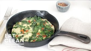 Roasted Red Pepper And Kale Frittata - Eat Clean With Shira Bocar