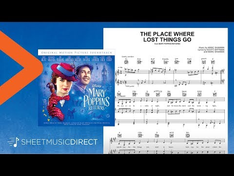 The Place Where Lost Things Go Sheet Music (from Mary Poppins Returns) - Piano, Vocal & Guitar