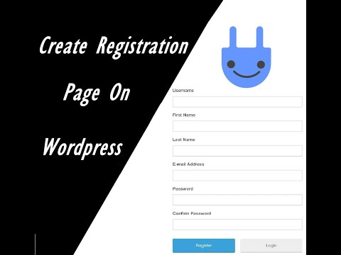 How To Create A Registration Page On Wordpress For Free