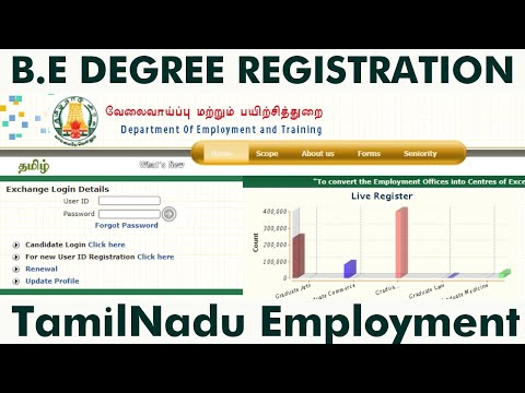 Degree Registration in Tamilnadu Employment