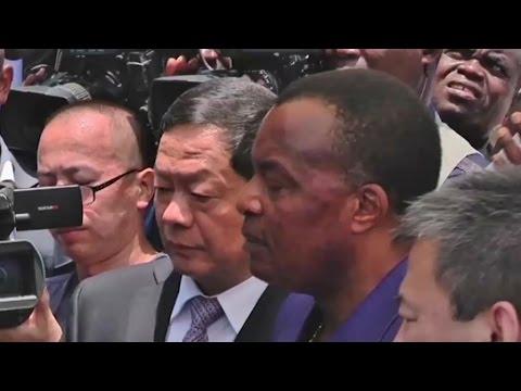 Congo, Pose de la 1ère pierre de la banque Sino-Congolaise BSCA-Bank