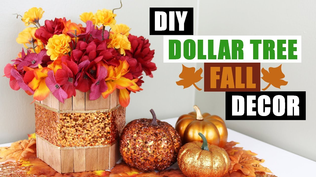 Diy Dollar Tree Fall Fl Arrangement Home Decor