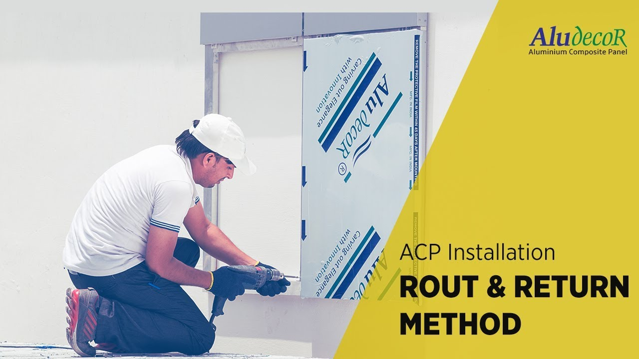 Aluminium composite panel installation rout and return for Aluminium composite panel interior decoration