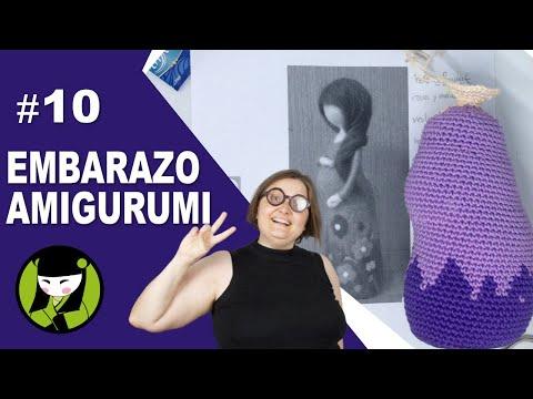 SEÑORA EMBARAZADA TEJIDA A CROCHET 10 amigurumi cabeza de mujer