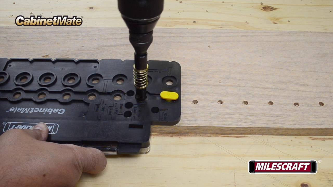 Milescraft 1316 CabinetMate - How to Create Shelf Pins - YouTube