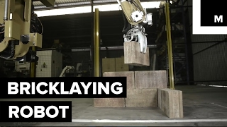A robot arm just built an entire house with bricks in 2 days