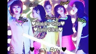 Wonder Girls Lyric Video - Hey Boy MP3