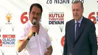 Erdoğan İzmir mitinginde sürpriz! İbrahim Tatlıses türkü söyledi