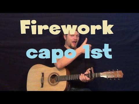 Firework (Katy Perry) Easy Strum Guitar Lesson How to Play Tutorial ...