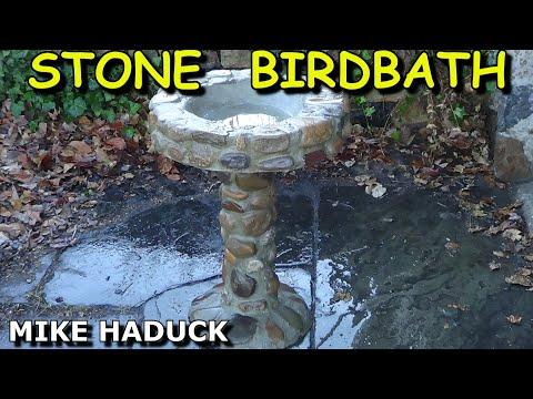 How I Made A Stone Birdbath (Mike Haduck)