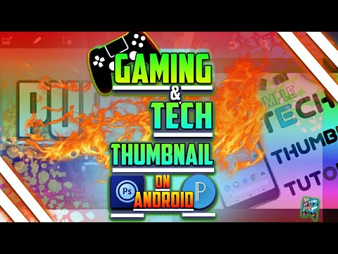 Make dope GAMING and TECH THUMBNAIL on Android feat. Free apk games  #Smartphone #Android
