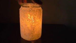 Зимний светильник своими руками. ( Make Home # 72 )(В этом видео я расскажу вам как сделать красивый зимний светильник своими руками из подручных материалов...., 2015-01-04T13:25:46.000Z)