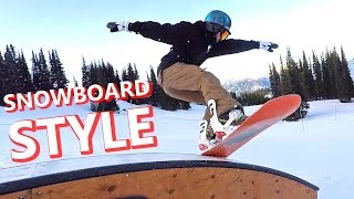 TIPS FOR SNOWBOARDING WITH STYLE