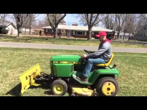 John Deere 318 >> John Deere 318 Lawn And Garden Tractor Youtube