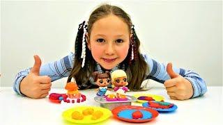 Мультики для детей. Сладости из Плей До вместе с ЛОЛ