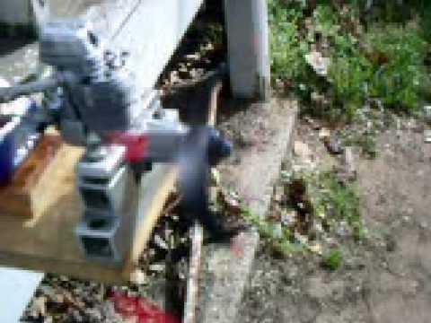 ENYA ENGINES 46 4 STROKE ENGINE IDLEING NO MUFFLER