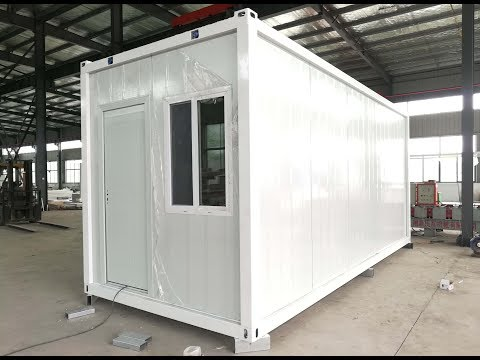 20ft flat pack container house installation video-CS Modular